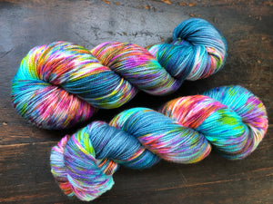 Hella Jella Fish on 85% Superwash Merino/15% Nylon 2-Ply Twist Sock