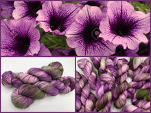 Petunias on Superwash 75% Superwash Merino/25% Nylon Sock