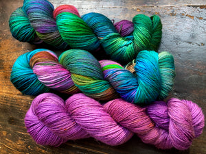Purplexed on 75% Superwash BFL/25% Nylon Sock