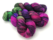 Fractals: ** LESS BLACK** BUTTERFLY EFFECT on NEW Shimmer Sock with Lurex