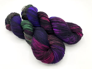 Fractals: BUTTERFLY EFFECT on Superwash 70% Merino/20% Silk/10% Cashmere Sock