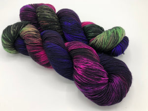 Fractals: BUTTERFLY EFFECT on 80% Superwash Merino/20% Nylon 2-Ply Twist Sock