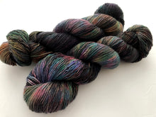 Oil Slick on 100% Superwash Merino Single Ply Sock High-Twist