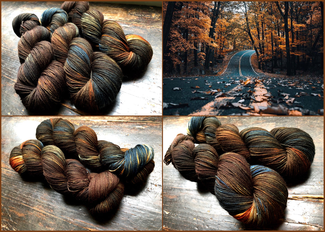 Country Road on Superwash 75% Superwash Merino/25% Nylon Sock