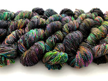 Oil Slick on NEW 90% Superwash Merino/10% Nylon SLUB sock yarn