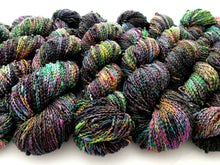 Reserved Order for Nicole: Oil Slick on NEW 90% Superwash Merino/10% Nylon SLUB sock yarn