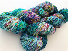 Hella Jella Fish on NEW 90% Superwash Merino/10% Nylon SLUB sock yarn