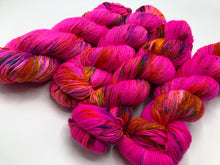 Lawn Flamingo EXTREME PINK on Superwash 75% Superwash Merino/25% Nylon Sock