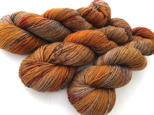 Chestnut on Superwash 70% Merino/20% Silk/10% Cashmere Sock