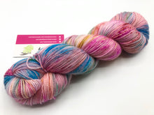 Paletas on 80% Superwash Merino/20% Nylon 2-Ply Twist Sock