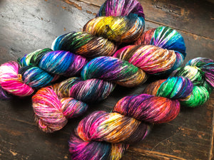 Cyclone on 80% Superwash Merino/20% Nylon 2-Ply Twist Sock