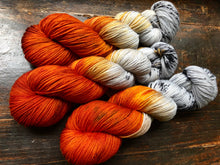 Birch Fire on 80% Superwash Merino/20% Silk 2-Ply Twist Silken Sock