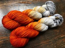 Birch Fire on 80% Superwash Merino/20% Nylon 2-Ply Twist Sock