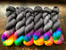 Lite Brite on Mohair/Merino/Nylon blend 4-Ply Sock