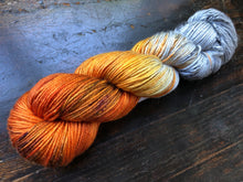 Birch Fire on 50/50 SW Merino/SILK DK
