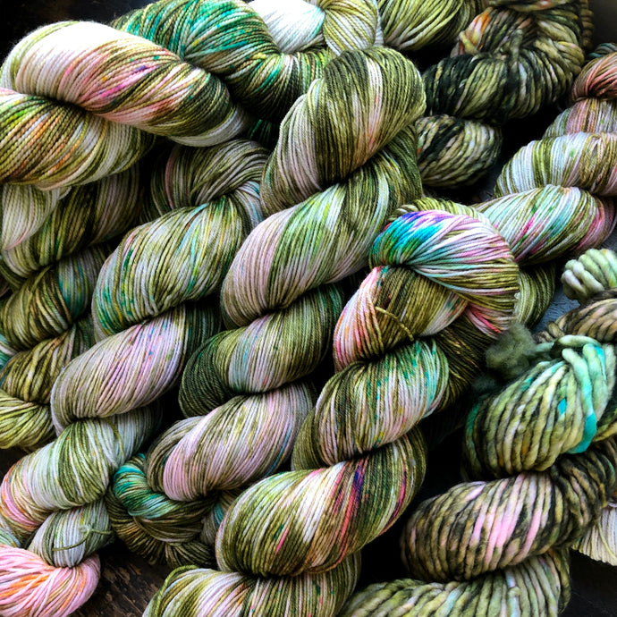 Irish Spring on 80% Superwash Merino/20% Nylon 2-Ply Twist Sock