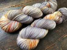 Mother of Pearl on 80% Superwash Merino/20% Nylon 2-Ply Twist Sock