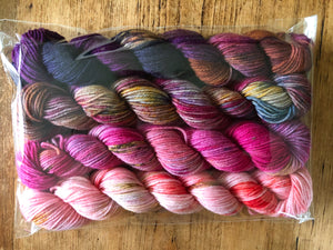 Mini Skein Yarn Set Number 5 on 75% Superwash Merino/25% Nylon  Sock