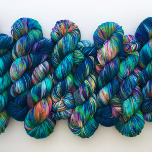Hella Jella Fish on MOHAIR/merino/nylon blend 4-Ply Sock