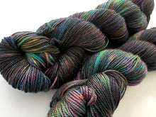 Oil Slick on Superwash 50% Merino/50% Silk Sock