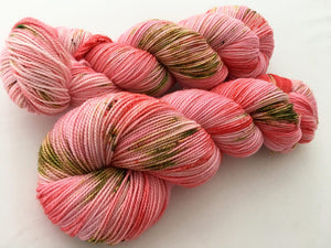 I'll Buy My Own Damn Roses! on 80% Superwash Merino/20% Nylon 2-Ply Twist Sock