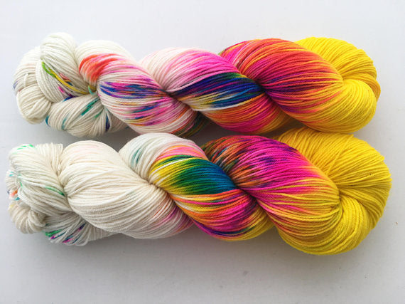 Bustin' Outta Bushwick Yellow on 80% Superwash Merino/20% Nylon 2-Ply Twist Sock