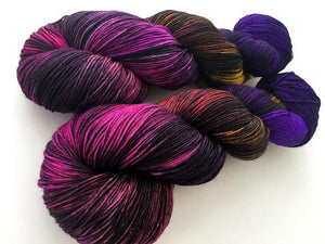 Reserved Listing for Mischa - Witch's Tit on Superwash 80% Merino/20% Silk Twist Sock