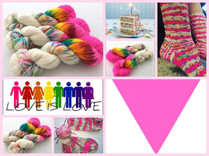 **Party Like It's 6/26/15! on 100% Superwash Merino DK Weight