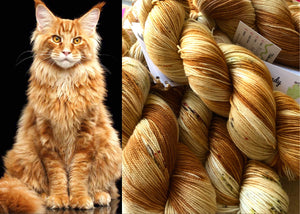 Red Tabby on 100% Superwash Merino DK