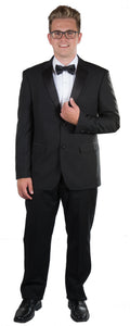 Men's Black Notch Slim Fit Tuxedo
