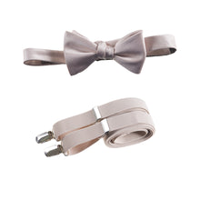Load image into Gallery viewer, Mens Blush Adjustable Self-tie Bow Tie and Suspender Set by Tuxgear Inc