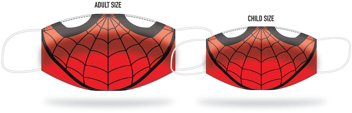 ADULT OR CHILD SIZE PLEATED ANTI-MICROBIAL FACE MASK - WEB-SLINGER
