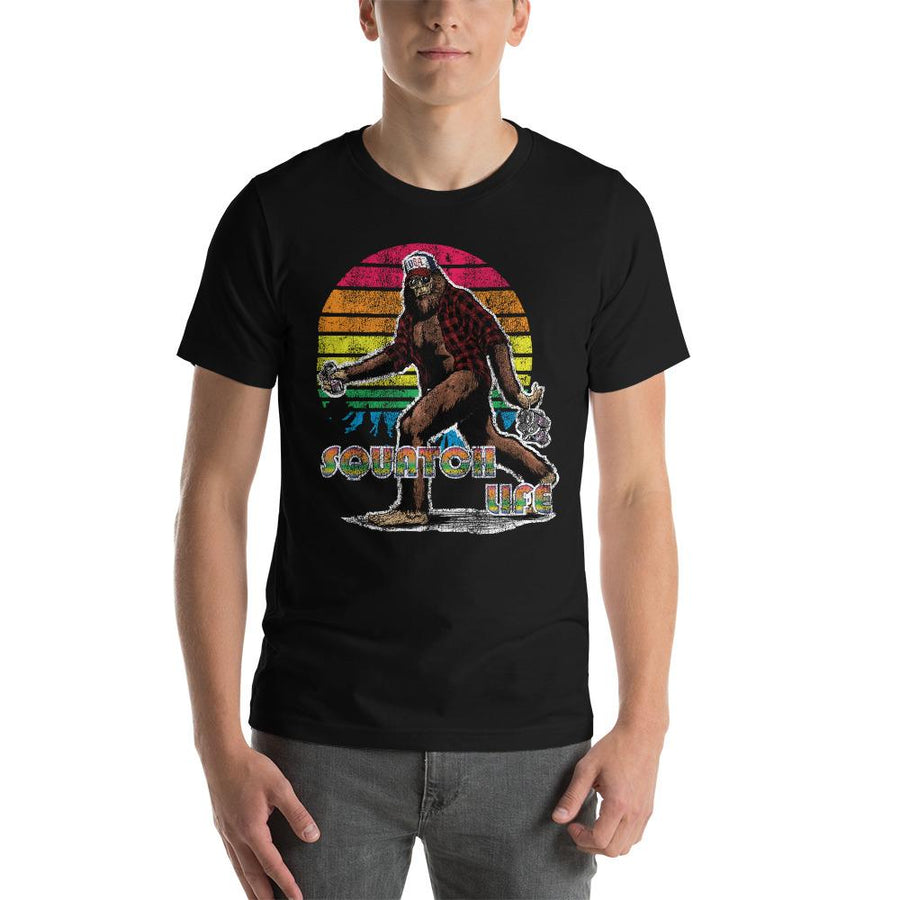 MEN'S SQUATCH LIFE SHORT SLEEVE TEE - Deadcelebritee | Subculture Tees