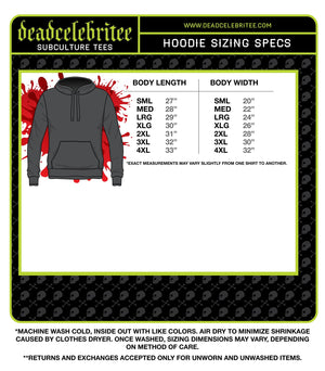 UNISEX INVADERS PULLOVER HOODIE - Deadcelebritee | Subculture Tees