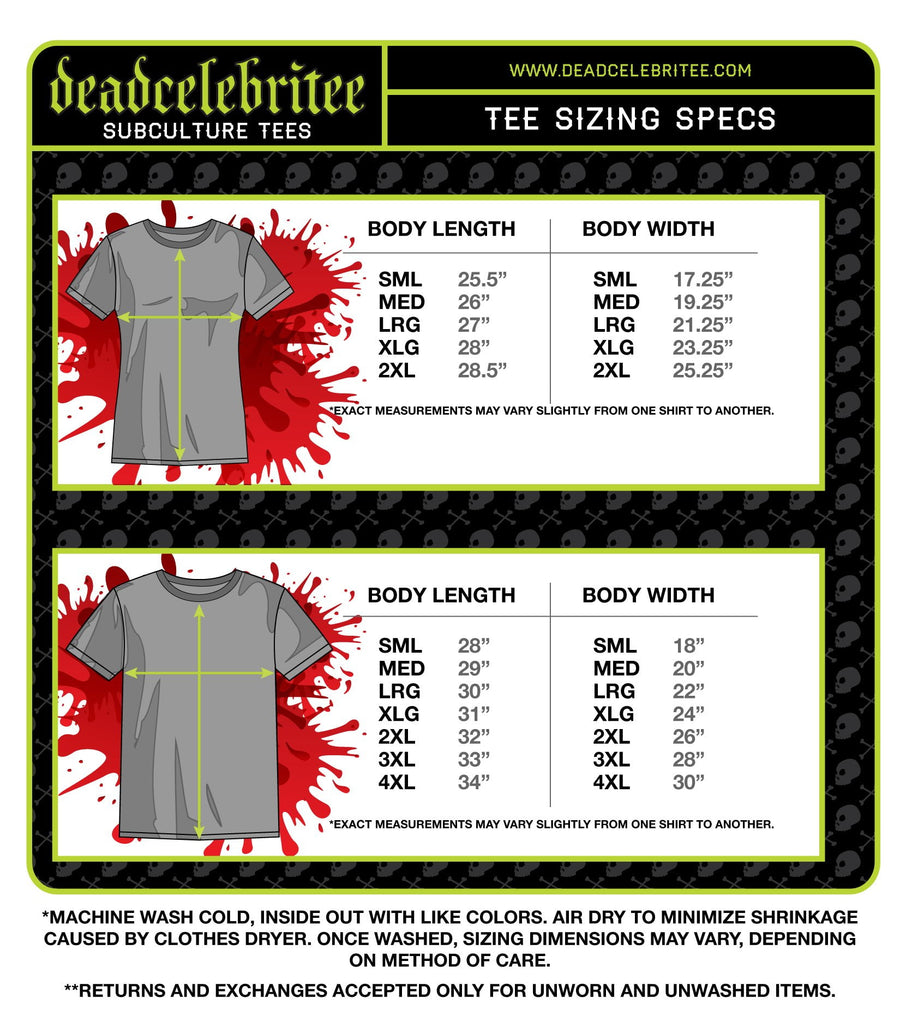 MEN'S D.O.A. SHORT SLEEVE TEE - Deadcelebritee | Subculture Tees