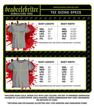 MEN'S DEATH BY STEREO SHORT SLEEVE TEE - Deadcelebritee | Subculture Tees