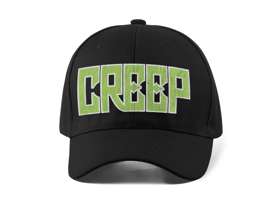 CREEP EMBROIDERED 6 PANEL CAP - Deadcelebritee | Subculture Tees