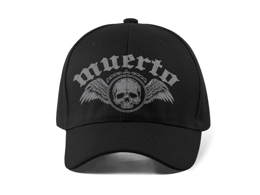 MUERTO EMBROIDERED 6 PANEL CAP - Deadcelebritee | Subculture Tees