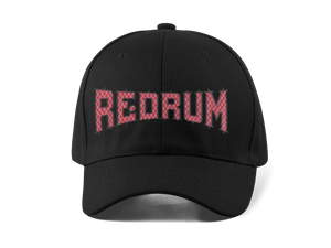 REDRUM EMBROIDERED 6 PANEL CAP - Deadcelebritee | Subculture Tees