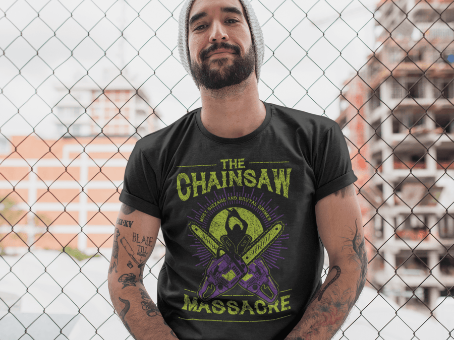 MEN'S CHAINSAW SHORT SLEEVE TEE - Deadcelebritee | Subculture Tees