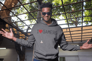 UNISEX I HEART GAMERS PULLOVER HOODIE - Deadcelebritee | Subculture Tees