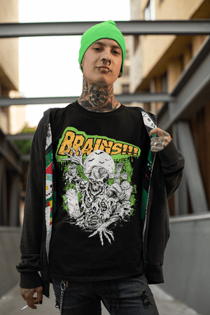 MEN'S BRAINS! SHORT SLEEVE TEE - Deadcelebritee | Subculture Tees