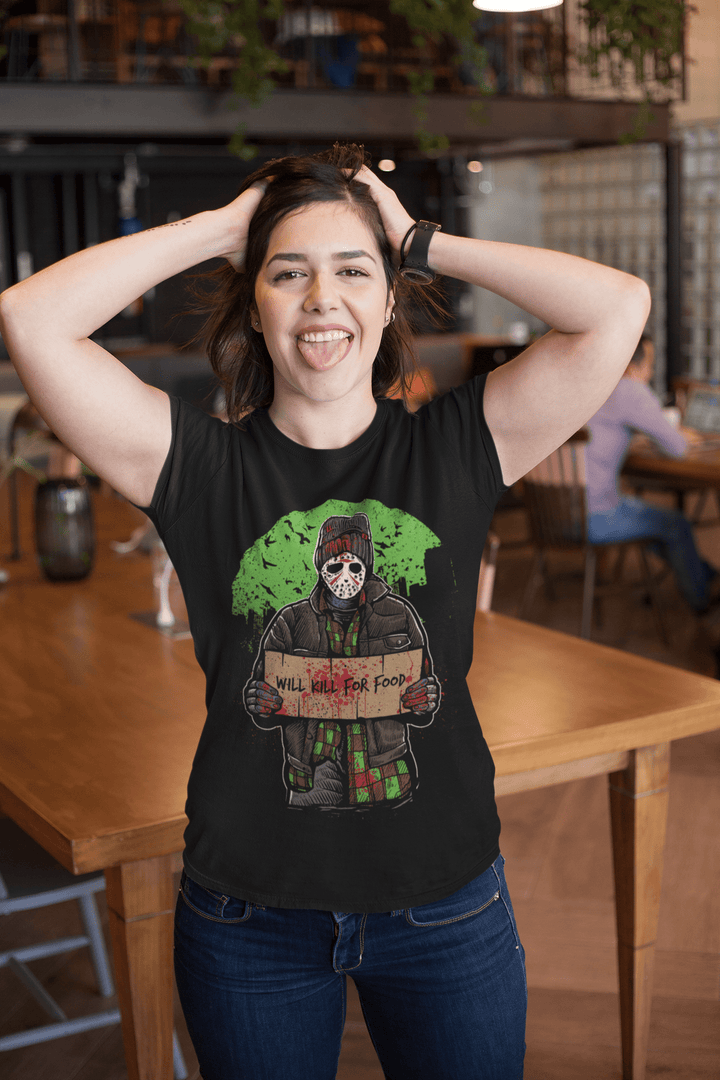 WOMEN'S KILL FOR FOOD SHORT SLEEVE TEE - Deadcelebritee | Subculture Tees