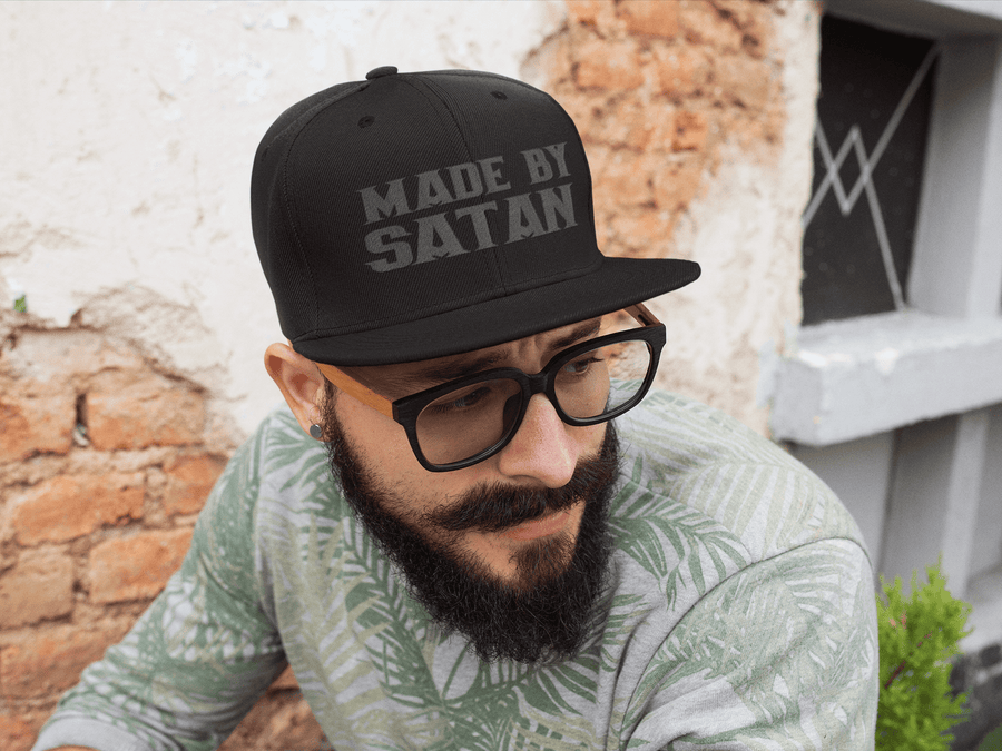 MADE BY SATAN EMBROIDERED 6 PANEL CAP - Deadcelebritee | Subculture Tees