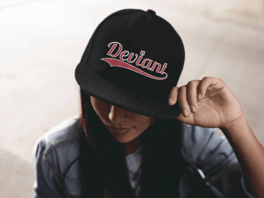 DEVIANT EMBROIDERED 6 PANEL CAP - Deadcelebritee | Subculture Tees