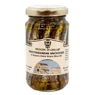 Mediterranean Anchovies (whole) in Organic Extra Virgin Olive Oil