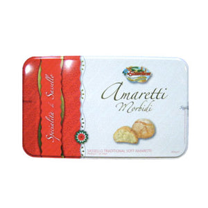 La Sassellese Soft Amaretti Cookies 14 oz tin