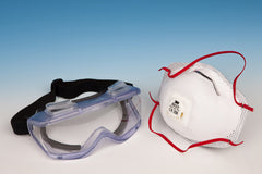 Respirator Mask & Safety Goggles