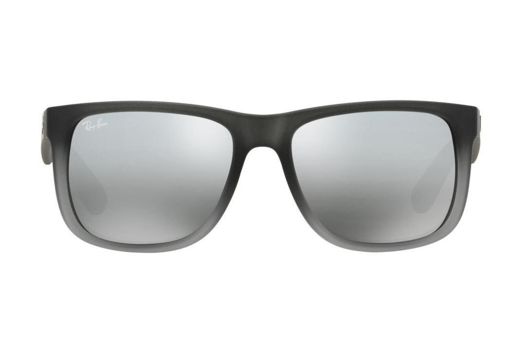 f8ed55d471d1 ... Load image into Gallery viewer, RayBan Justin Classic Sunglasses - Grey  Silver Gradient Mirror ...