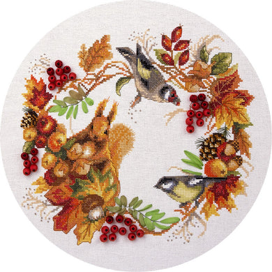 Autumn Wreath Cross Stitch Kit